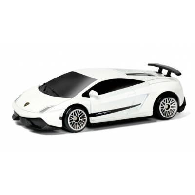 Машина металлическая RMZ City 1:64 Lamborghini Gallardo LP570-4 без механизмов, (белый), 7,18х3,10х1,95 см RMZ City