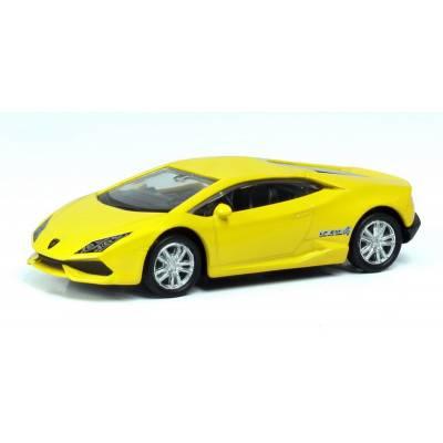 Машина металлическая RMZ City 1:64 LAMBORGHINI HURACAN LP610-4, Цвет Жёлтый RMZ City
