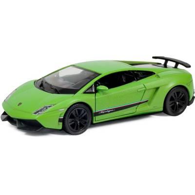 Инерционная машинка Lamborghini Gallardo - Superleggera, матово-зеленая, 1:36 RMZ City