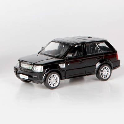Инерционная коллекционная машинка Range Rover Sport, глянцево-черная, 1:32 RMZ City