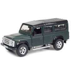 Металлическая инерционная машинка Land Rover Defender, 1:32,темно-зеленая RMZ City