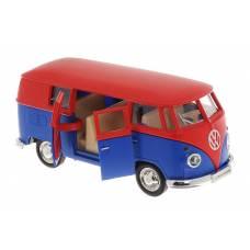 Автобус Volkswagen Type 2 Transporter, матовый красный с синим ABtoys