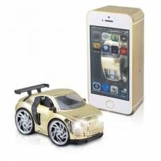 Инерционная машина в коробке-смартфоне, золотая  Shenzhen Toys