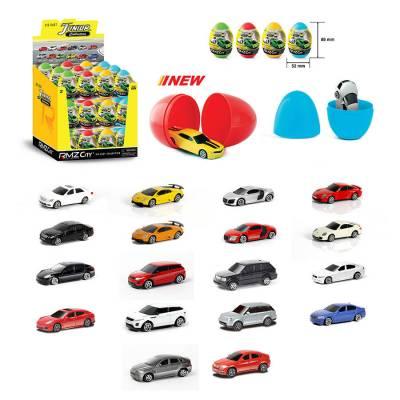 Яйцо-сюрприз Junior Collections с металлической машинкой, 1:64 RMZ City