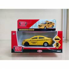 Инерционная машина Kia Rio - Такси, 12 см Технопарк
