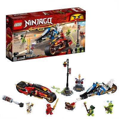 Конструктор LEGO Ninjago - Мотоцикл-клинок Кая и снегоход Зейна LEGO Ninjago