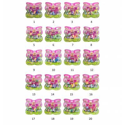 Большой набор Filly Butterfly Glitter - Волшебная семья, 4 фигурки Dracco