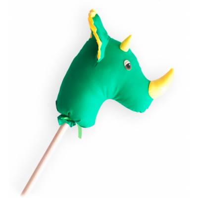 Динозавр-скакалка на палочке