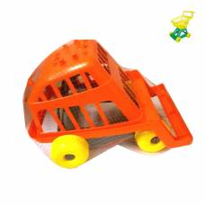 Игрушечная тележка для супермаркета, оранжево-серая Совтехстром