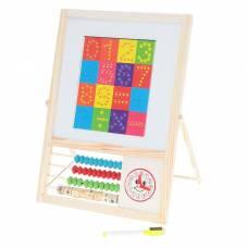 Доска магнитная на подставке, счеты, часы, цифры и знаки, маркер-стиралка, размер рабочего поля: 18,5 × 21,5 см Sima-Land