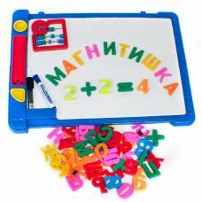 Доска с буквами и цифрами