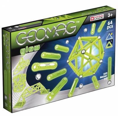 Магнитный конструктор Glow (светится в темноте), 64 детали Geomag