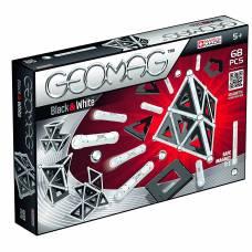 Магнитный конструктор Black and White, 68 деталей Geomag