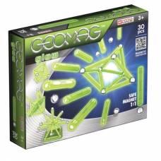 Магнитный конструктор Glow (светится в темноте), 30 деталей Geomag
