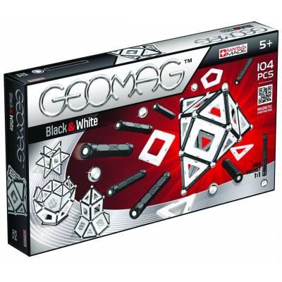 Магнитный конструктор Black and White, 104 детали Geomag