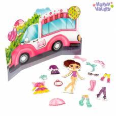 Магнитный набор с куклой, фоном и наклейками «Милашка Сью» Happy Valley