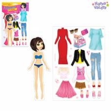 Магнитная игра «Одень куклу: городская модница» Happy Valley