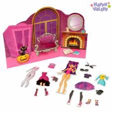 Магнитный набор с куклой, фоном и наклейками «Красотка Сандра» Happy Valley