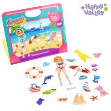 Магнитный набор в сумочке с куклой «Кристи на пляже» Happy Valley