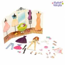 Магнитный набор с куклой, фоном и наклейками «Высокая мода» Happy Valley