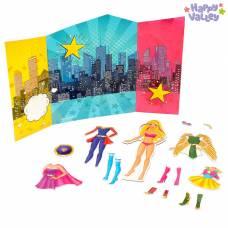 Магнитный набор с куклой, фоном и наклейками «СуперЛиза» Happy Valley