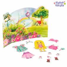 Магнитный набор с куклой, фоном и наклейками «Малышка Аришка» Happy Valley