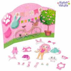 Магнитный набор с куклой, фоном и наклейками «Карнавал у Кэтти» Happy Valley