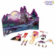 Магнитный набор с куклой, фоном и наклейками «Хэллоуин» Happy Valley