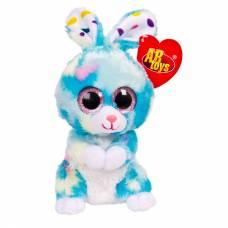 Кролик голубой, 15 см игрушка мягкая ABtoys