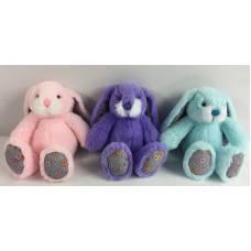 Кролик, 15см, 3 цвета (розовый, фиолетовый, бирюзовый) ABtoys
