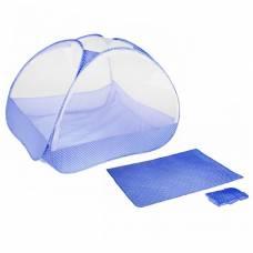 Манеж-палатка для ребёнка, москитная сетка на молнии, подушка и матрасик в комплекте, цвет голубой Крошка Я