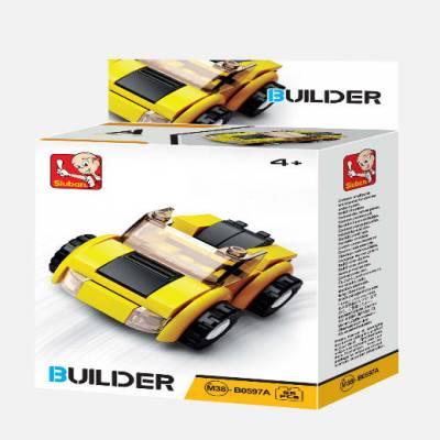 Конструктор Builder - Машинка, 56 деталей  Sluban