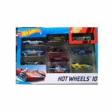Набор металлических машинок Hot Wheels №9, 1:64, 10 шт. Mattel