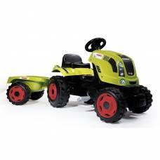 Педальный трактор Claas с прицепом, размер XL Smoby