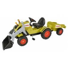 Детский педальный трактор погрузчик с прицепом Claas 800056553 Big