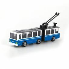 Инерционный металлический троллейбус с резинкой Технопарк