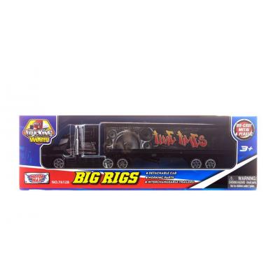 Коллекционная модель грузовика с полуприцепом, черная, 19 см MotorMax