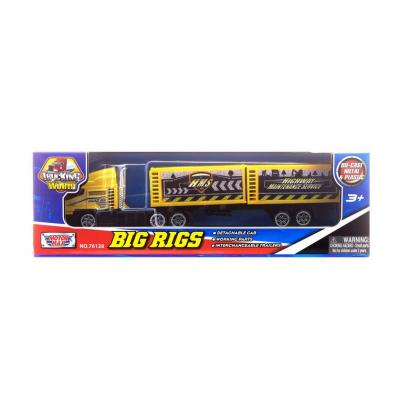 Коллекционная модель грузовика с полуприцепом, желтая, 19 см MotorMax
