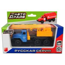 Инерционный грузовик со строительным краном Kaiyu