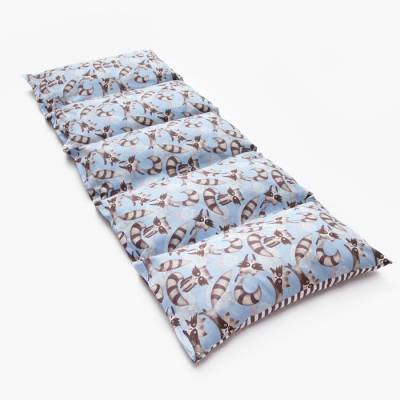 Матрасик с подушками «Еноты» двусторонний 70×190 см, бязь/спанбонд Крошка Я