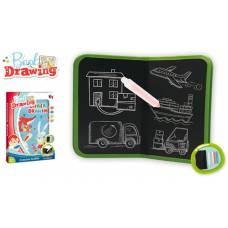 Книжка для рисования мелом, мелки 4 шт. в компл., кор. Наша игрушка