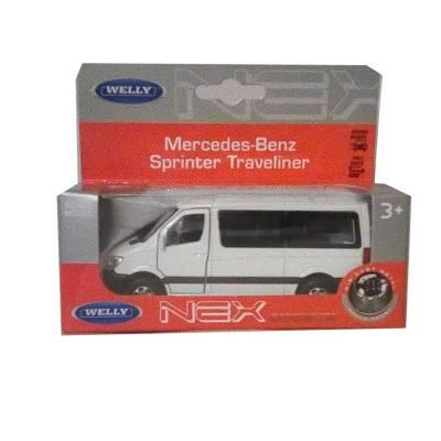 Коллекционная машина Mercedes-Benz Sprinter, белая, 1:50 Welly