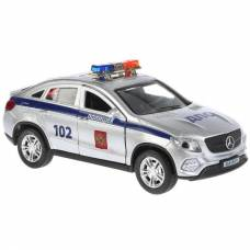 Металлическая машина Mercedes-Benz Gle Coupe - Полиция (свет, звук), 12 см  Технопарк