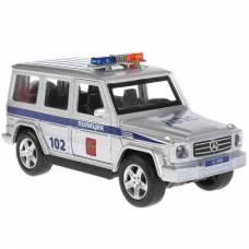 Металлическая машина Mercedes-Benz G-class - Полиция (свет, звук), 12 см Технопарк