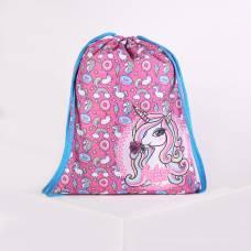 Мешок для обуви Оникс МО-26-1, 37*1*47, дев Единорог, розовый/голубой Оникс