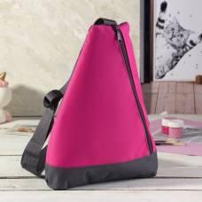 Рюкзак для обуви, отдел на молнии, цвет розовый ЗФТС