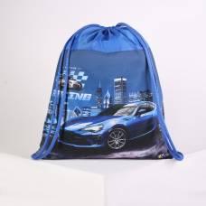 Мешок для обуви Оникс МО-27, 41*1*49, мал Street car, синий Оникс
