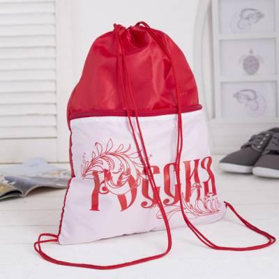 Мешок для обуви, отдел на шнурке, цвет красный Luris