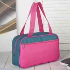 Сумка для обуви, отдел на молнии, наружный карман, цвет розовый/бирюзовый ЗФТС