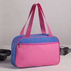 Сумка для обуви, отдел на молнии, наружный карман, цвет розовый/голубой ЗФТС